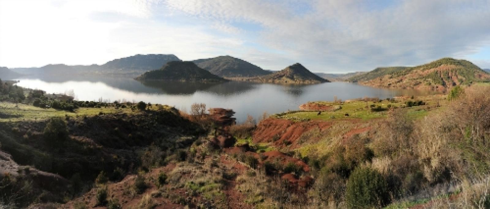 El lago de Salagou
