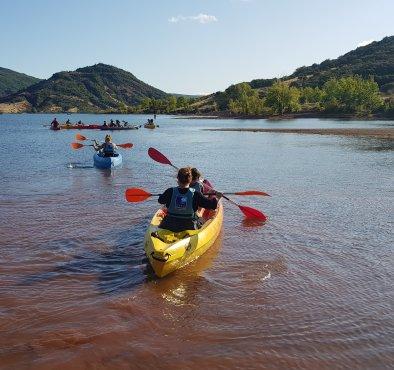sortie canoe lac